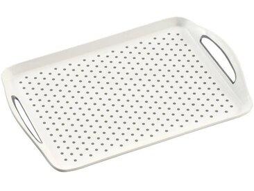 Homeware Serviertablett 45,5x32x4,5cm KESPER, Weiß, Kunststoff