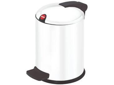 Hailo Tret-Kosmetikeimer 4L weiß, Stahl