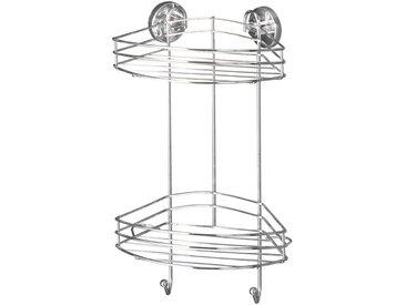 Zurbrüggen Vacuum-Loc Eckregal, chrom, Stahl