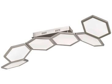 WOFI Leuchten Deckenleuchte SIGNE, silber, Aluminium