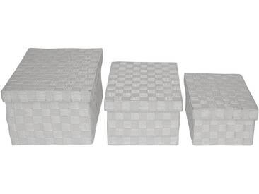 FRANZ MÜLLER FLECHTWAREN Box rechteckig mit Deckel, Weiß, Nylon