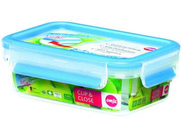 Emsa Dose CLIP & CLOSE 0,55 Liter, transparent, Kunststoff