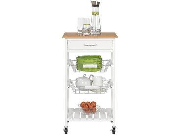 Z2 Küchen-Trolley KUMO, Weiß, MDF