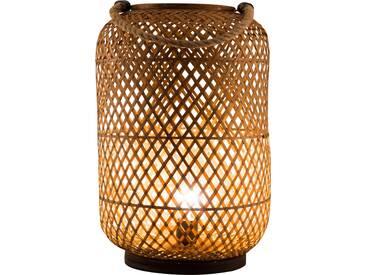 Nino Leuchten Windlicht 1flg WINDY, braun, Bambus