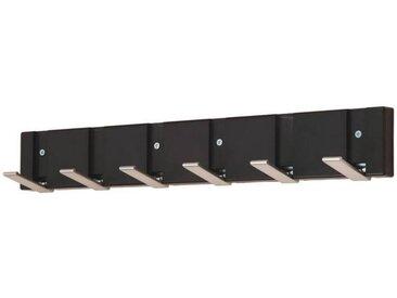 BOXXX Wandgarderobenleiste POLO, schwarz, Holz