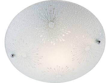 Nino Leuchten Deckenleuchte 1flg MONZA, Weiß, Glas