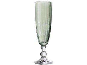 BOHEMIA Cristal Sektkelch rauchgrün 230ml Georgia, klar, Glas