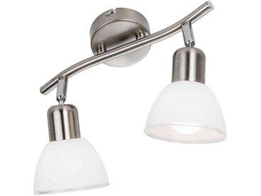 Nino Leuchten LED Spot 2flg Mattes, silber, Metall
