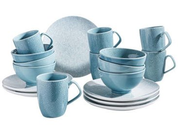 Zurbrüggen Kaffeeservice 18-tlg., blau, Porzellan