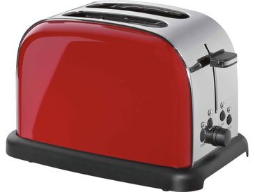 Cilio Toaster RETRO, rot, Edelstahl