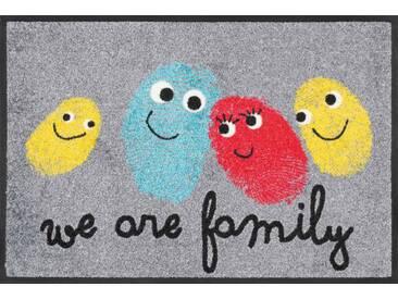 Kleen-Tex Fußmatte Happy Family, grau, Polyamid