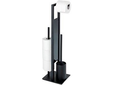 Wenko Stand WC-Garnitur Rivalta schw RIVALTA, schwarz, Stahl