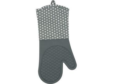 Zurbrüggen Topfhandschuhe Silikon Grau, weiß/grau, Baumwolle