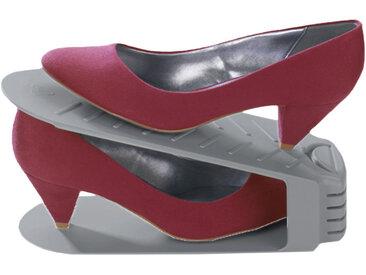 Zurbrüggen Schuhhalter, Schuhstapler, grau, Polystyrol