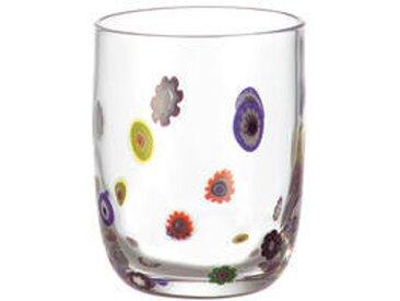 Leonardo Becher klein MILLEFIORI, multicolour, Glas