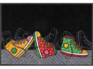 Kleen-Tex Fußmatte Happy Sneakers, schwarz, Polyamid