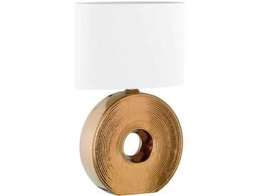 Fischer Leuchten Tischleuchte Eye, Keramik bron, bronze, Metall