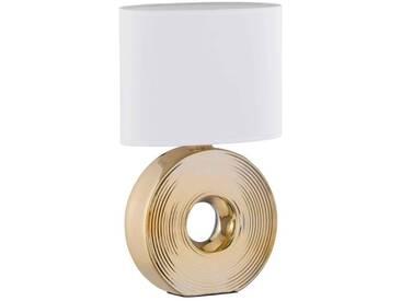 Fischer Leuchten Tischleuchte Eye, Keramik gold, gold, Metall