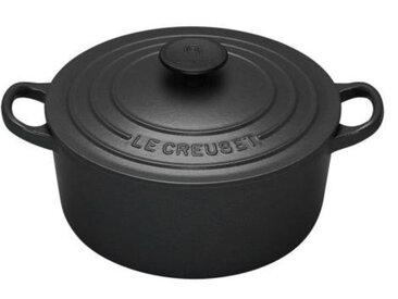 LE CREUSET Bräter rund 28 cm SIGNATURE, schwarz, Gusseisen