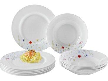 Zurbrüggen Tafelservice Blumendesign BONE CHINA, Mehrfarbig, Keramik