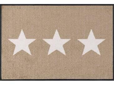 Kleen-Tex Fußmatte Stars sand, beige, Polyamid