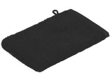 Zurbrüggen Waschhandschuh 16x22cm schwarz Quattro, schwarz, Baumwolle
