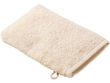 Zurbrüggen Waschhandschuh 16x22cm beige Quattro, beige, Baumwolle