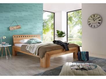 Massivholzbett Luzern, Kernbuche Massivholz, das Metallfrei-Bett 120x200cm