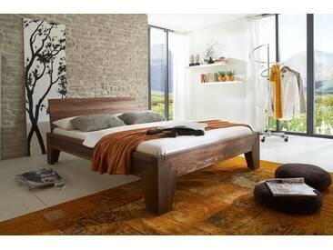 Massivholzbett Luzern, Nussbaum Massivholz, das Metallfrei-Bett 180x200cm