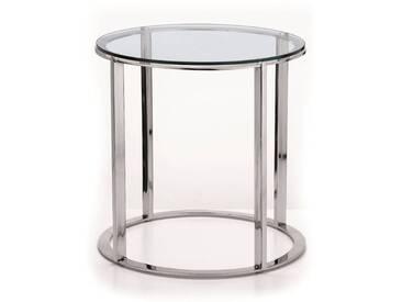 Beistelltisch Glas  44 cm hoch
