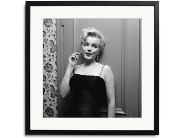 Marilyn Monroe in Hollywood Schwarz Weiß Bild eingerahmt