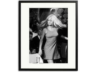 Brigitte Bardot Schwarz Weiß Foto in Rahmen