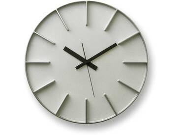Moderne runde Uhr  Edge  aus Aluminiumguss in zwei Farben