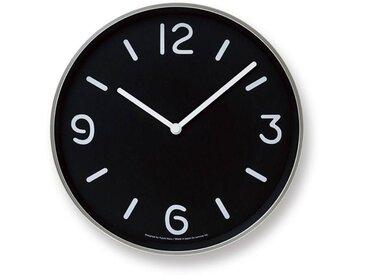 Moderne runde Wanduhr  Mono  im verspielten Schwarz-weiß-Design