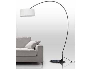 Bogenlampe - Divina Arco mit Plisse Kappe  Höhe 211 cm