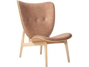 Elephant Lounge Chair mit Lederbezug / frame Natural