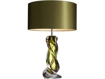 Tischlampe Carnegie mit grüne Schirm  65cm hoch