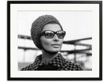 Sophia Loren Schwarz Weiß Bild eingerahmt