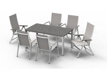 MWH Futosa Stapelsessel - Material: Aluminium, Farbe: Arctic White, Maße: 69 cmx64,5 cmx98 cm; 879331