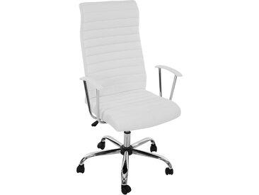 Bürostuhl Drehstuhl Chefsessel Cagliari, ergonomische Form  weiß
