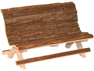 Holzbank Nature aus völlig unbehandeltem Holz 30 x 15 x 18 cm