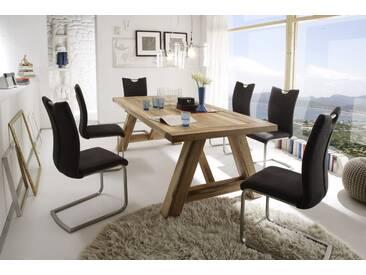 MCA furniture Bristol Esstisch Eiche massiv 220x100 Eiche massiv verwittert