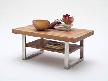 MCA Furniture Couchtisch Castello Castello, Braun, 110,00cm x 70,00cm x 46,00cm, Massivholz/Metall, 58764EIB
