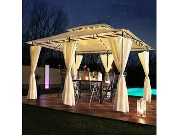 LED - Pavillon 3x4m Minzo Garten Pavillion Solar Pavilion Gartenzelt Designer Pavilon