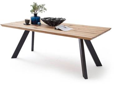 MCA Furniture Esstisch Milton Milton, Holz/Schwarz, 220,00cm x 100,00cm x 77,00cm, Massivholz, MI22SLWE