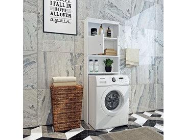HappyHome Waschmaschinen-Überbauschrank HWS01-WEI