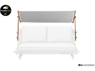 Apple Bee Robinson Lounge Sonnenschutz Teak 198cm breit Grau