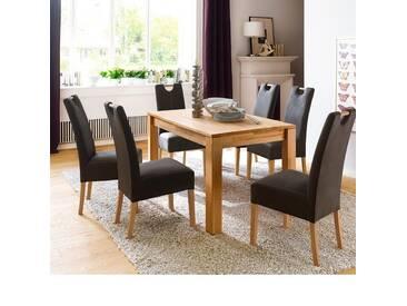 MCA Furniture Esstisch Paul Paul, Braun/Holz, 140,00cm x 80,00cm x 77,00cm, Massivholz, Paul_06628EO1