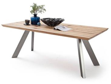 MCA Furniture Esstisch Milton Milton, Holz/Silber, 180,00cm x 90,00cm x 77,00cm, Massivholz, Milton_MI18NI_WE