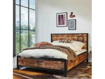 Wolf Möbel Bett Iron Mangoholz mit Eisen 140x200